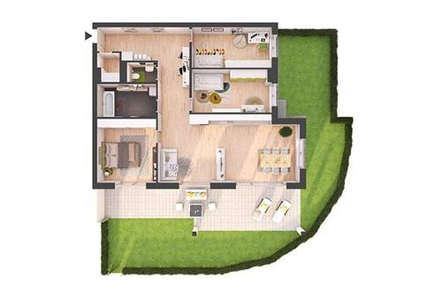 Provisionsfreie 4-Zimmer Neubau-Gartenwohnung (W02)