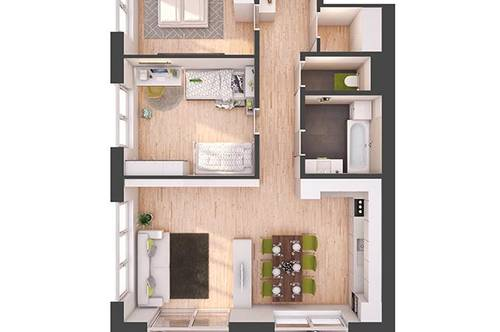 Provisionsfreie 3-Zimmer Neubau-Wohnung mit Balkon (W26)