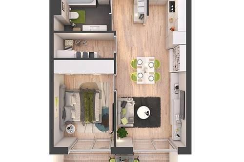 Provisionsfreie 2-Zimmer Neubau-Wohnung mit Balkon (W13)