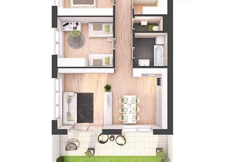 Provisionsfreie 3-Zimmer Neubau-Gartenwohnung (W06)