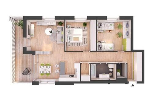 Provisionsfreie 3-Zimmer Neubau-Wohnung mit Balkon (W18)