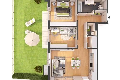 Provisionsfreie 3-Zimmer Neubau-Gartenwohnung mit Balkon (W08)