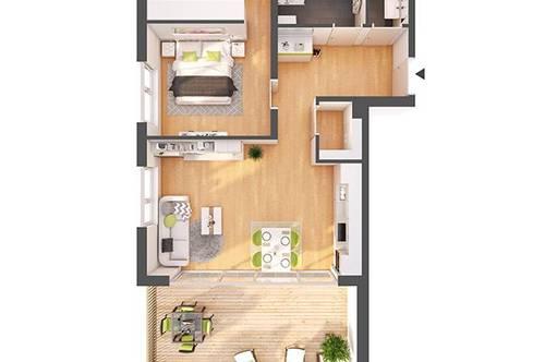 Provisionsfreie 2-Zimmer Neubau-Wohnung mit Terrasse (W11)