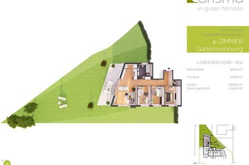 Provisionsfreie 4-Zimmer Neubau-Gartenwohnung im Obergeschoss (W12)