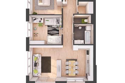 Provisionsfreie 3-Zimmer Neubau-Wohnung mit Balkon (W17)