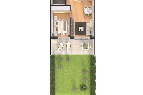 Provisionsfreie 2-Zimmer Neubau-Gartenwohnung (W03)