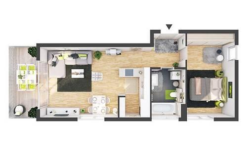 Provisionsfreie 2-Zimmer Neubau-Wohnung mit Balkon (DW08)