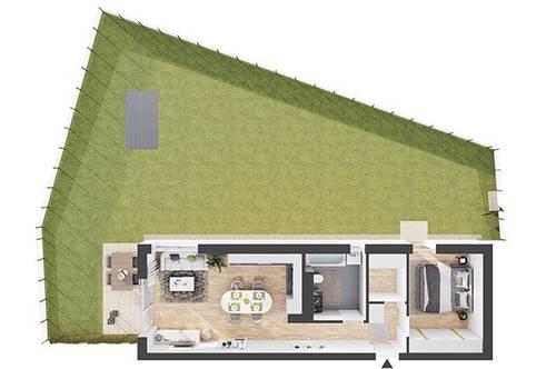 Provisionsfreie 2-Zimmer Neubau-Gartenwohnung (BW03)