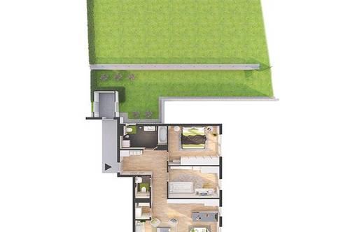 Provisionsfreie 3-Zimmer Neubau-Gartenwohnung mit Balkon (82W4)