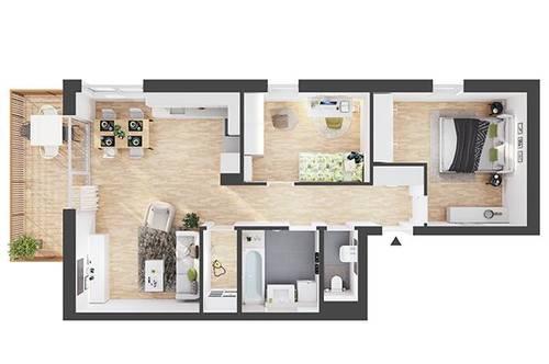 Provisionsfreie 3-Zimmer Neubau-Wohnung mit Balkon (BW05)