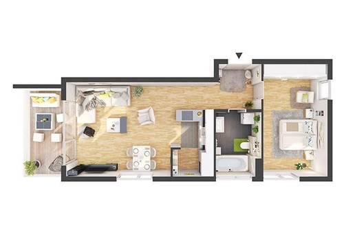 Provisionsfreie 2-Zimmer Neubau-Wohnung mit Balkon (CW08)