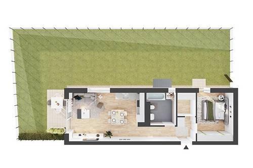Provisionsfreie 2-Zimmer Neubau-Gartenwohnung (CW01)
