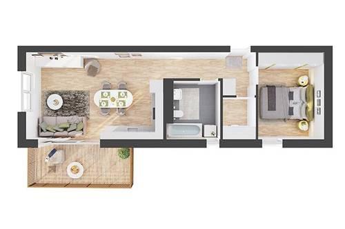 Provisionsfreie 2-Zimmer Neubau-Wohnung mit Balkon (CW05)