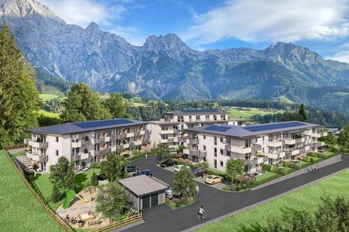Schöne 2 Zimmer Neubauwohnung mit einem Ausblick auf die Bergkulisse der Leoganger Steinberge