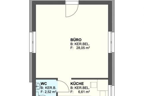 Purbach am Neusiedlersee - 37m2 großes Büro zu kaufen! Erstbezug!