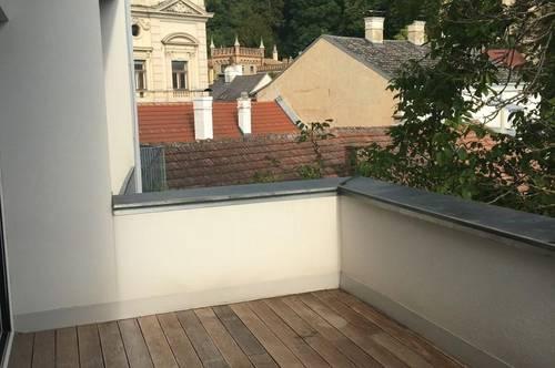 Wunderschöne Altbauwohnung mit großer TERRASSE & Loggia mit herrlichem Grünblick, Nähe Fußgängerzone Mödling