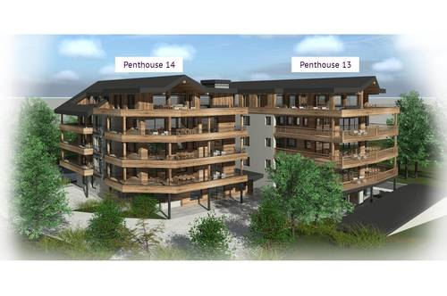 Edle Penthouse-Wohnungen mit sensationellem 360° Panorama