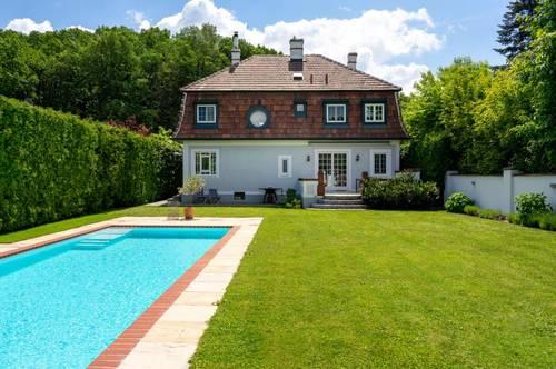 Stilvolle Wienerwald-Villa mit herrlichem Privatgarten und Pool. Hier zu sein ist wunderbar!