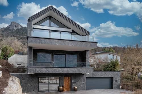 Zauberhaft glitzert der See! Top Designer-Villa mit Pool samt  unverbaubarem See- und Bergblick