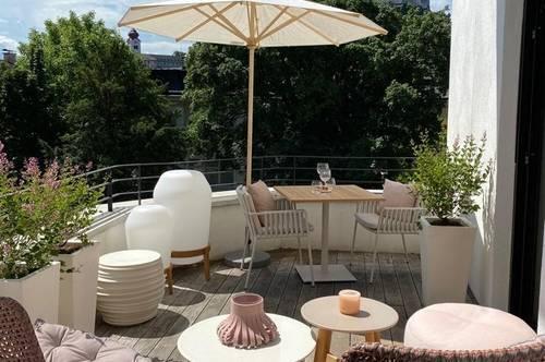 Detailverliebte Terrassen-Wohnung mit Festungsblick!