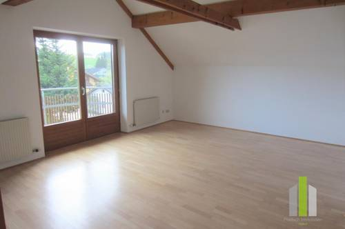 Perwang am Grabensee: schöne 2 Zi.-Mansarden-Wohnung mit Balkon!