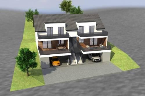 Neubau/Vollmassiv/Doppelhaushälfte! Aussichtslage!