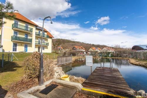 Hofamt Priel – 3 Zimmerwohnung mit gemütlichem Balkon und Schwimmteich