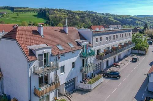 Hofstetten – herrliche 2 Zimmerwohnung mit Terrasse + Garten in zentraler Lage