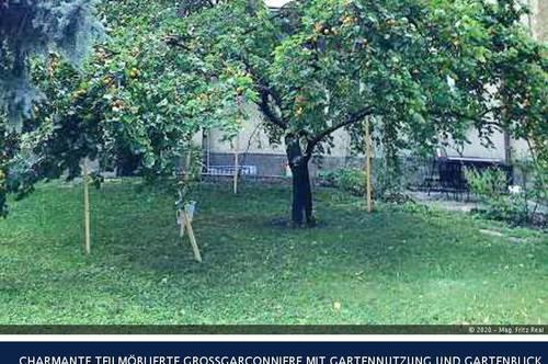 13.Kremsergasse CHARMANTE TEILMÖBLIERTE GROSSGARCONNIERE MIT GARTENNUTZUNG UND GARTENBLICK
