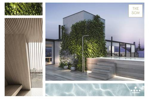 THE SON - luxussprühendes Citypenthouse mit Pool, Outdoor-Küche und Wellnessbereich!