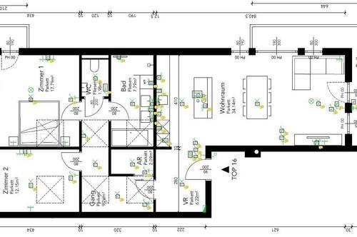 Dachgeschoßwohung - 3 Zimmerwohnung mit 2x Balkon € 905,06