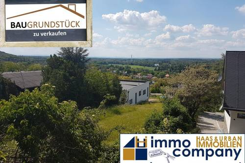 Hainburg: Baugrund mit Donaublick vom Hexenberg