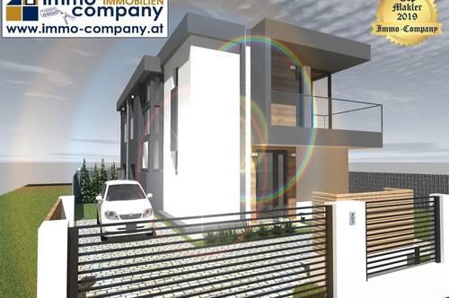 *** Doppelhaushälfte mit Modernen Design *** Bauphase*** Erstbezug – Belagsfertig -30 km südlich von Wien