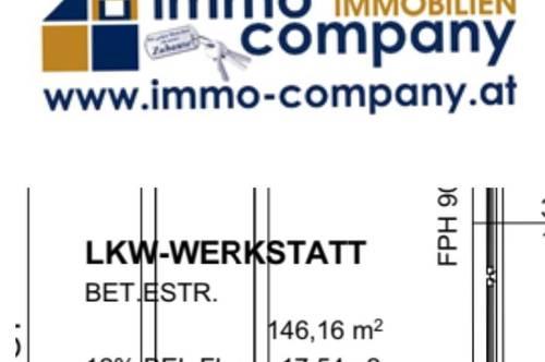 ENDE JAHRES 2020 LKW WERKSTATT 147m² UM NUR 1500€
