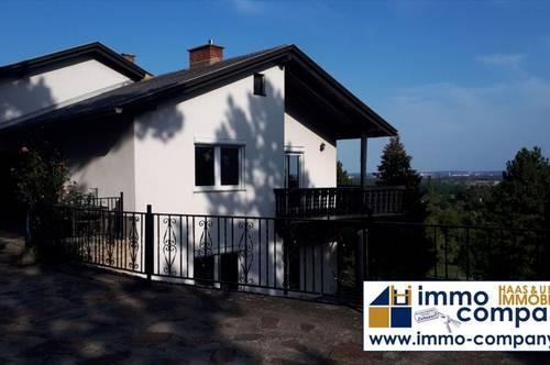 Augen Auf! Haus mit 151 m² Wohnnutzfläche in Bad Fischau Brunn in absoluter Ruhelage mit Panoramablick über Wiener Neustadt bis zum Schneeberg!