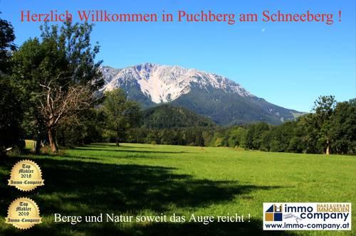 *** Puchberg am Schneeberg *** Baugrund mit freier Sicht auf den Schneeberg !!!