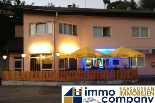 Gewerbeobjekt Zinshaus mit 9 Appartements/Zimmer (jedes mit Bad und WC) und Restaurant - VERKAUF!!