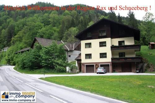 *** Schwarzau im Gebirge *** TOLLES HAUS IN ALLEINLAGE IN DER REGION RAX UND SCHNEEBERG
