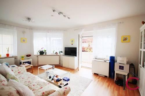 Schöne, helle 2-Zimmer-Mietwohnung mit Balkon und Gartenhütte