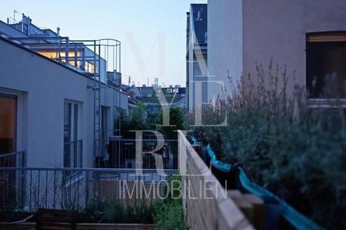 Möblierte Terrassenmaisonette in kompletter RUHELAGE