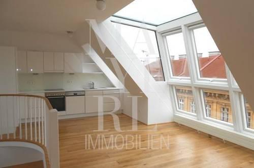 Gut geschnittene Dachgeschossmaisonette mit Terrasse