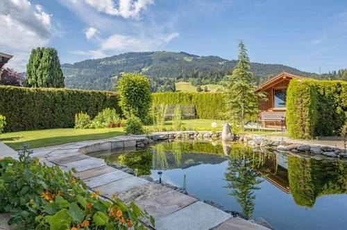 Einfamilienhaus mit Kaiserblick, Wellnessbereich und Schwimmteich