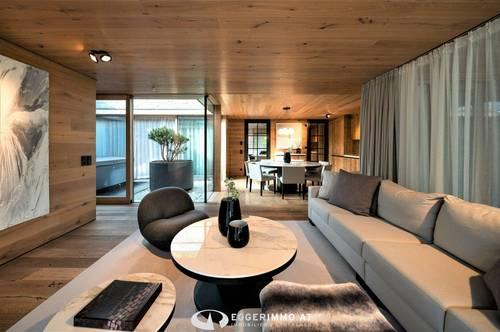 5733 Bramberg: INVESTMENT; 4 Zimmer-Luxuswohnung 127m² in Bramberg , Sauna, Jacuzzi, Ruheraum, Skikeller,Terrasse, Garten, 2 Tiefgaragenstellplätze