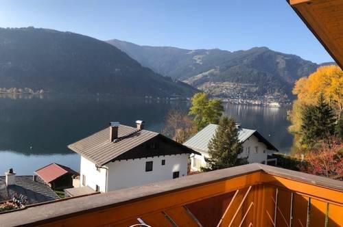 Thumersbach   Seeuferstrasse - ab Dezember 2020; 4 Zimmer - Dachgeschosswohnung 100 m², Kachelofen, einzigartiger Blick über den Zeller See