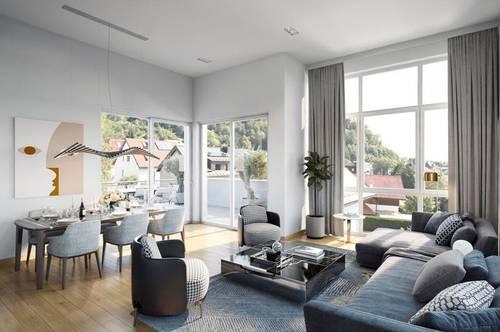 Elegantes 4-Zi-Galerie-PENTHOUSE in feiner Kleinvilla! Neubau in Salzburg/Gnigl