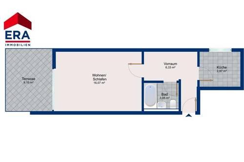 Ruhige 1-Zimmer-Wohnung mit gr. Sonnenterrasse - Cottage Parsch!