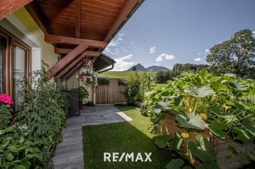 Neuwertige 3 Zimmer Eigentumswohnung mit wunderschönem Garten in St. Wolfgang!