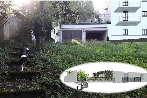 Eine außergewöhnliche 3 Zi.-Wohnung+ Terrasse, Garten, Schwimmteich