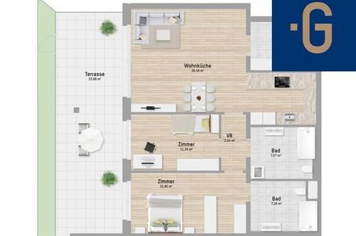 2301, Kaiser Franz Josef-Straße, An der Stadtgrenze Wiens, 3-Zimmer-Eigentumswohnung