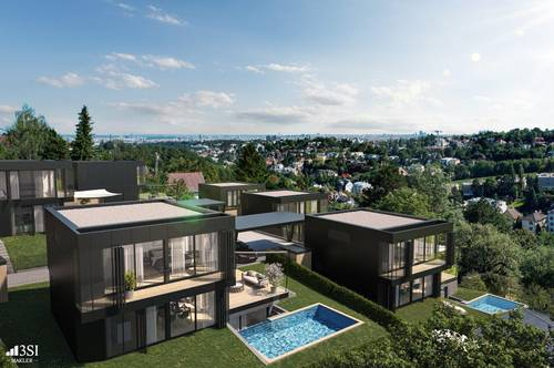 THE UNIQUE: Edle Villa in den Weinbergen Döblings mit Outdoor-Pool & Sauna